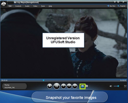 Take snapshot Blu-ray Player