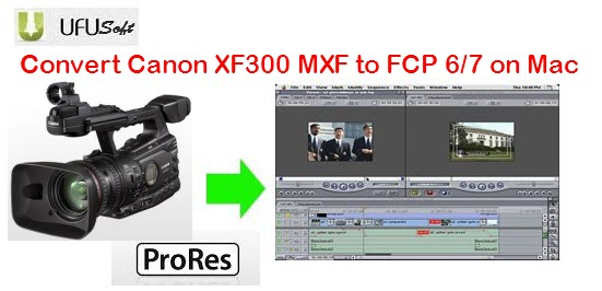 transcode Canon XF300 MXF files to Apple ProRes 422 MOV