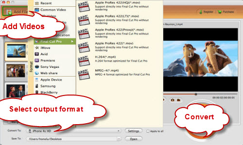 FLV/F4V to Final Cut Pro 6/7/X converter