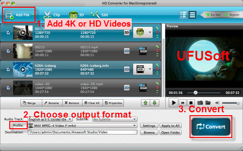play convert XAVC or XAVC S/AVCHD files