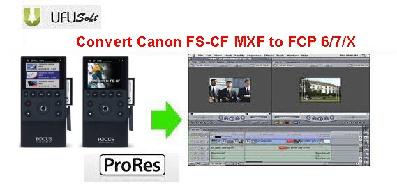convert Canon FS-CF Pro MXF .mxf videos to Apple ProRes MOV