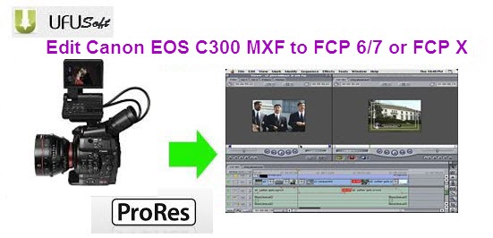 transcode Canon C300 MXF files to Apple ProRes 422 MOV