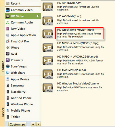 convert 2D 1080p files to iMovie 8/9/11 MOV