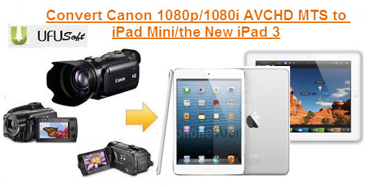 Canon AVCHD MTS to iPad Mini/the New iPad 3