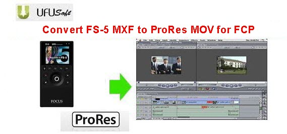 convert FS-5 MXF .mxf videos to Apple ProRes MOV