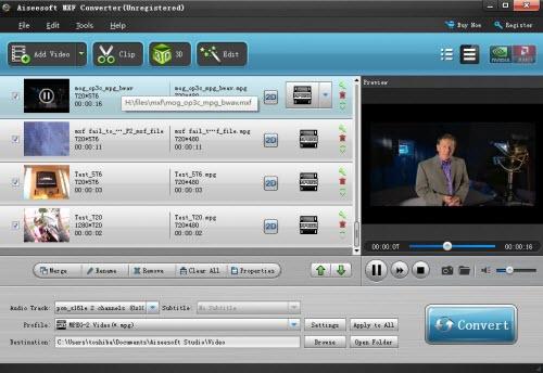 AVC-Intra P2 MXF File converter