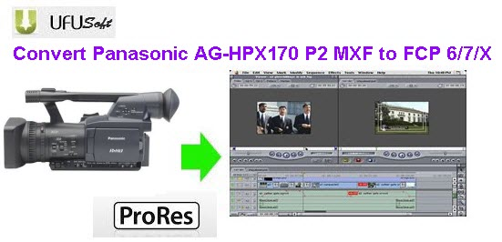 convert Panasonic AG-HPX170 P2 MXF .mxf videos to Apple ProRes MOV