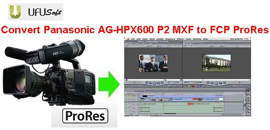 convert Panasonic AG-HPX600 P2 MXF .mxf videos to Apple ProRes MOV