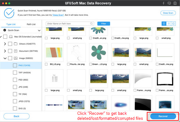 recover deleted Raw Images
