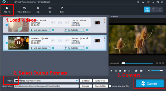 Dav converterplayer convert dav file to avimp4wmvmp3 to play dav video converter ccuart Choice Image