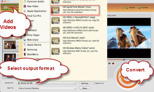 AVCHD MOV Mac Keynote Slide
