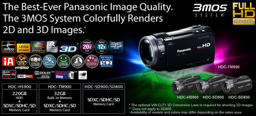 panasonic 900 series 2d 3d