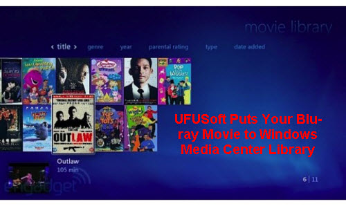 watch Blu-ray movies from Windows Media Center