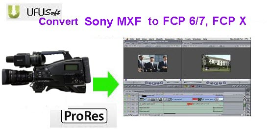 transcode Sony PMW-100 MXF files to Apple ProRes 422 MOV