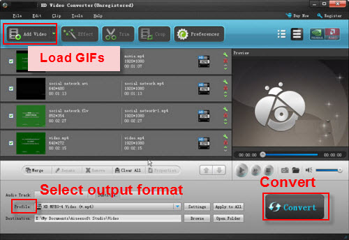 How to convert an animated gif to wmv with gif to wmv converter step 4 convert the gif file to wmv click the green convert icon at the top of the screen go to the output directory to open and view the file negle Images