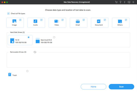 Select Storage Device to Scan for Recoverable Files