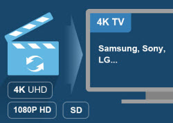 Convert any 4K Ultra HD video, 1080p HD, and SD video