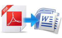 Convert PDF to document and image files
