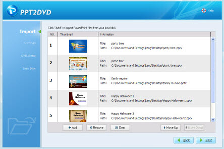 Convert PowerPoint slideshow to DVD on Windows Vista